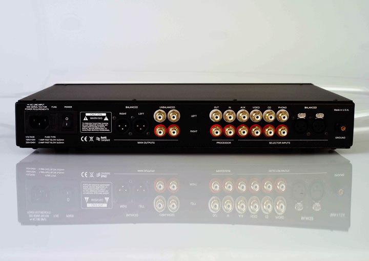 Sanders Sound Systems Preamplifier Back